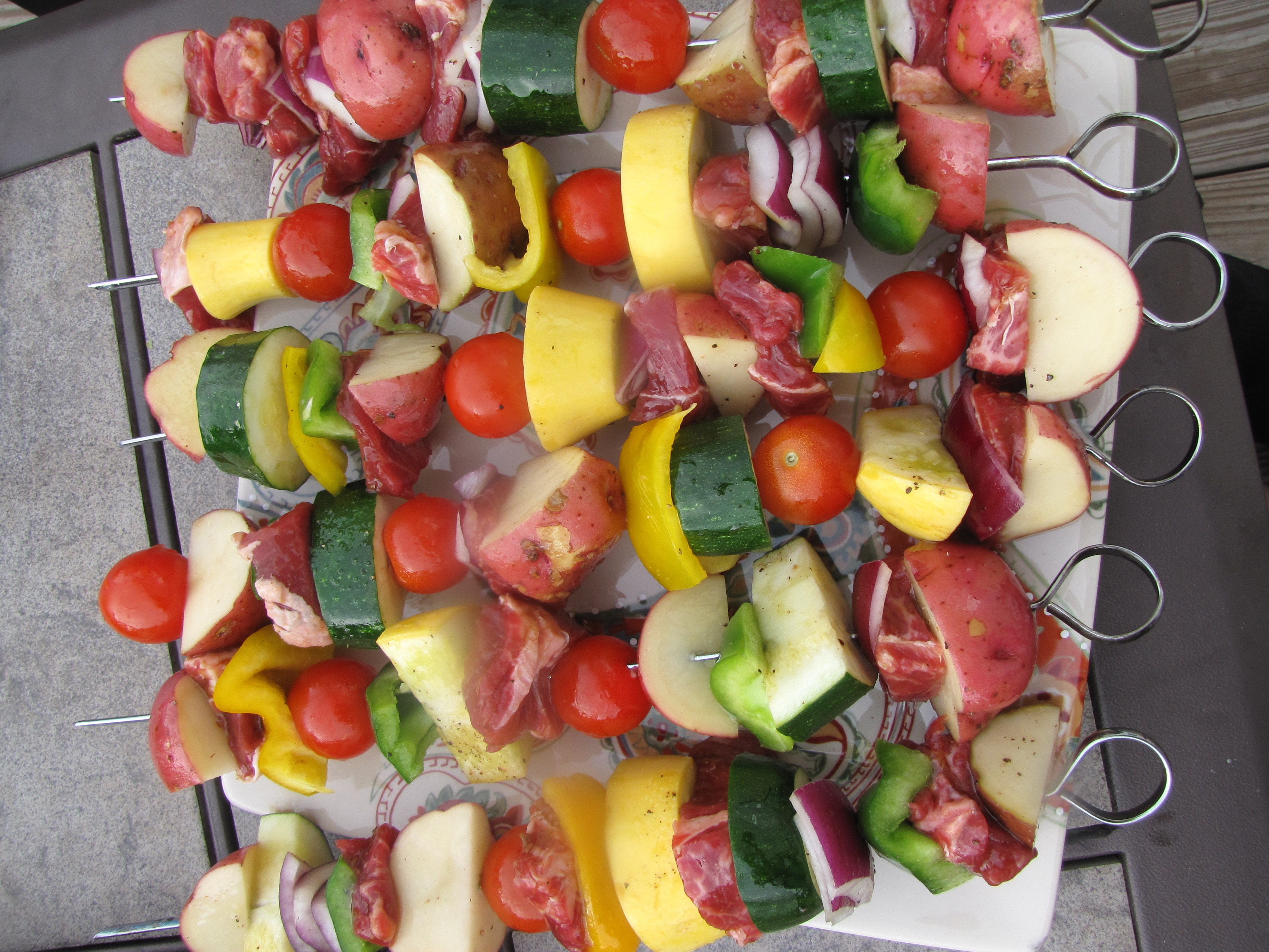 Kabob Meat And Meat on Kabob Skewers