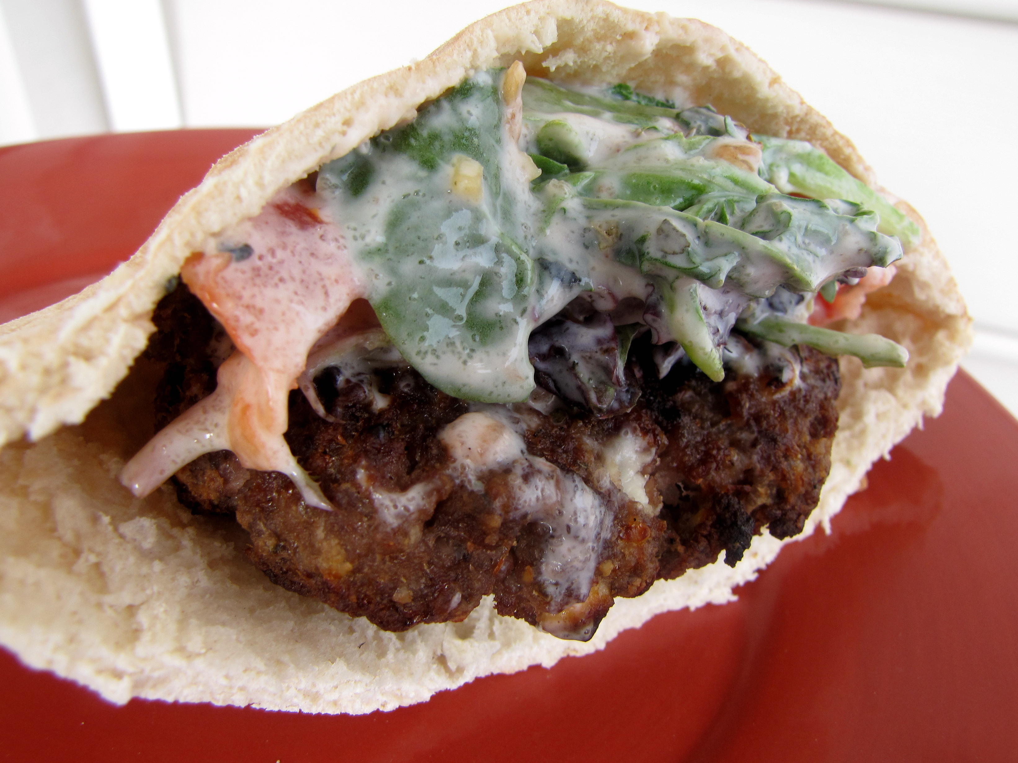 Beef Gyro Burgers - Gathered In The Kitchen